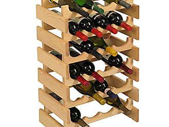 Wooden Mallet 24 Bottle Dakota Wine Rack, Unfinished