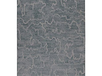Kelly Wearstler Staccato Steel Hand-knotted 6x4 Rug In Wool And Silk By Kelly Wearstler