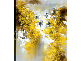 Art Maison Canada Yellow Floral Abstract Wall Art - HAYBAY19AONL