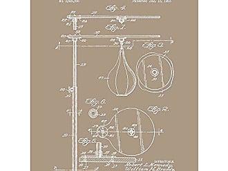 Inked and Screened SP_SPRT_2,625,356_KR_24_W Punching Bag Print, 18 x 24, Kraft-White Ink