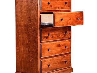 Forest Designs 5 Drawer Dresser with Black Knobs Unfinished Alder - B3051B- TA-UA