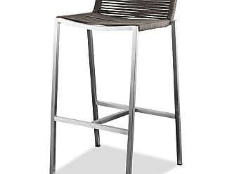 Whiteline Stone Outdoor Bar Stool - Set of 4 - BS1597C