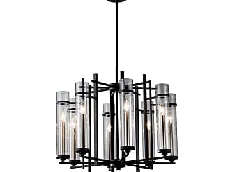 Feiss F2628/8 Ethan Eight Light 1 Tier Chandelier with ClearGlass