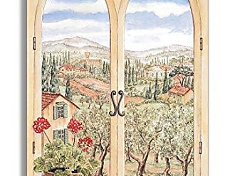 The Stupell Home Décor Collection Stupell Home Décor Decorative Faux Window Scene, Tuscany, 22 x 0.5 x 33, Proudly Made in USA