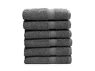 Linum Home Textiles SN96-6WC Bath Towel (Set of 6), Dark Grey