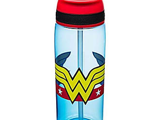 Zak designs WWNA-P282-D-AMZ DC Comics Water Bottles, Tritan Straw, Wonder Woman