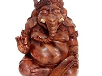 Novica Wood statuette, Kind Ganesha