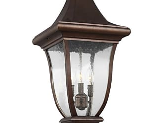 Feiss Oakmont 3-Light Outdoor Hanging Lantern in Patina Bronze