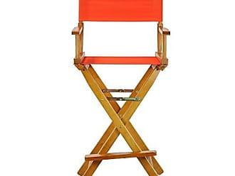 Yu Shan Casual Home 30 Directors Chair Honey Oak Frame-with Orange Canvas, Bar Height