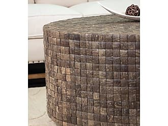 East at Main Lucille End Table Brown, 20.5x20.5x20.5