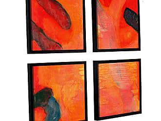 ArtWall Charlotte Johnstones Clown Fish II, 1997, 4 Piece Floater Framed Canvas Square Set, 36 x 36