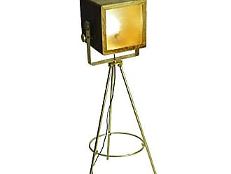Yosemite Home Decor PFL2328-1BP 1 Light Floor Lamp, Brass Plate