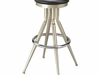 Regal Flair Leg 30 in. Backless Metal Bar Stool with Upholstered Seat