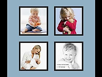 Art to Frames Double-Multimat-107-586//89-FRBW26079 Collage Photo Frame Double Mat with 2-8x10 Openings and Satin Black Frame
