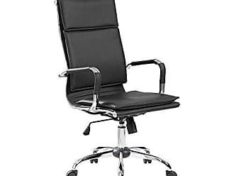 Pelegrin Cadeira Presidente Pelegrin em Couro Pu Pel-8003h Preta Design Charles Eames