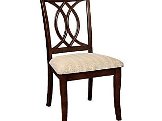 FURNITURE OF AMERICA Williams Home Furnishing CM3778SC-2PK Carlisle Side Chair, Brown