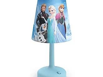 Philips 2) Philips Disney Frozen Portable Children Kids 10-Inch Bedside Table Lamp, Blue