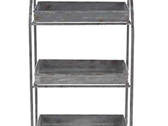 Deco 79 Shelves, Large, Gray