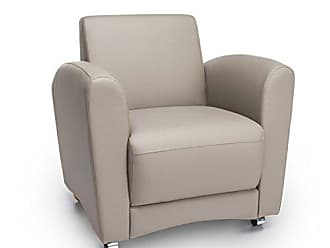 OFM InterPlay Series Upholstered Guest / Reception Chair, Plum/Taupe