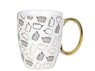 Enesco 6004622 Pusheen by Our Name is Mud Gold Pattern Coffee Mug 12 oz