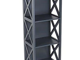 Deco 79 62685 Gray Rectangular Wooden Three-Tiered Shelf, 40 x 16