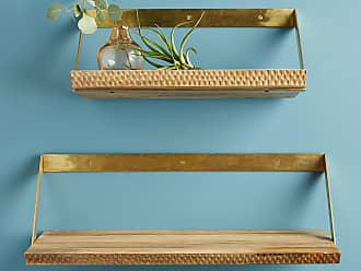 Anthropologie Beveled Wood Shelf