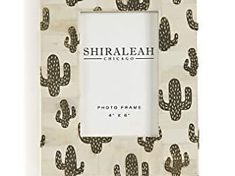 6.75 by 6.75 by 0.5-Inch Black Shiraleah Loft Ikat Picture Frame