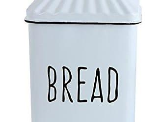 Creative Co-op White Metal Bread Lid Box