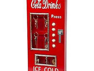 Design Toscano SY5842 Retro 1950s Cold Drink Soda Pop Machine Key Cabinet, Full Color
