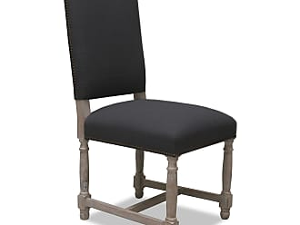 SOUTH CONE Lincoln Dining Chair - Set of 2 - PACCHSET2/CHARCOAL/DRYWHITE