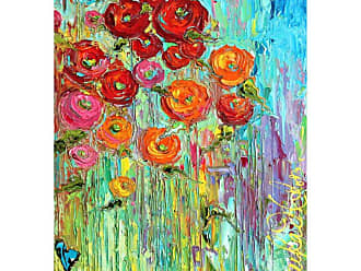 West of the Wind Poppies 6 Outdoor Canvas Wall Art - OU-80636