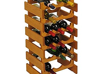 Wooden Mallet 18 Bottle Dakota Wine Rack, Medium Oak