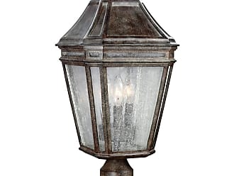 Feiss Londontowne 3 - Light Outdoor Post in Weathered Chestnut