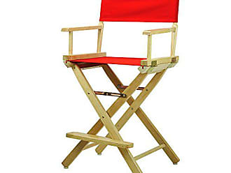 Yu Shan Casual Home 24 Directors Chair Natural Frame with Red Canvas, Counter Height