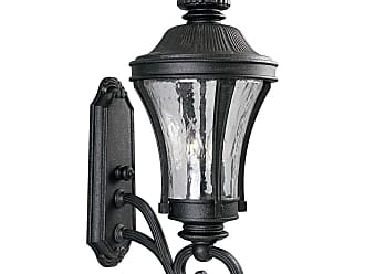 PROGRESS P5838-71 Three-light wall lantern in Gilded Iron finish with water seeded glass