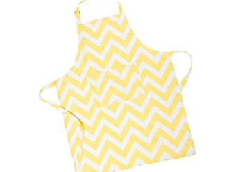 LinenTablecloth Yellow and White Chevron Chef Apron