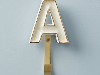 Anthropologie Ceramic Monogram Hook