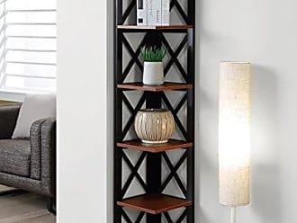 Convenience Concepts 203080CH Oxford Bookcase, Cherry/Black
