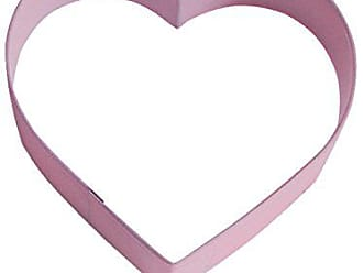 CybrTrayd R&M Heart Durable Cookie Cutter, 4-Inch, Pink, Bulk Lot of 12
