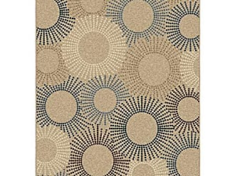 Orian Rugs Four Seasons Indoor/Outdoor Ray of Light Area Rug, 78 x 1010, Beige