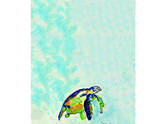 Betsy Drake KT134 Blue Sea Turtle Kitchen Towel