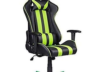 Pelegrin Cadeira Gamer Pelegrin Em Couro PU Reclinável PEL-3013 Preta E Verde