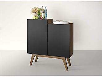 Estilare Aparador Buffet Bar 2 Portas e Design Moderno BR87 Modern - Preto