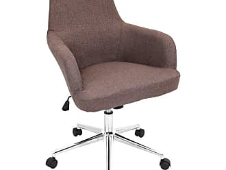 LumiSource Degree Office Chair Brown - OFC-AC-DGR BN