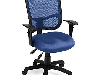 OFM 130-AA3-A04 Mesh-Back Comfort Series Task Chair - Ergonomic Office Chair with Arms, Navy