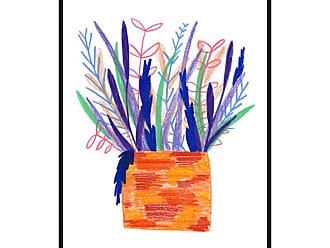 Ptm Images Flowerpot 4 Framed Canvas Wall Art - 9-115404