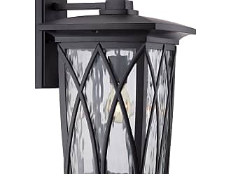 Quoizel Grover 17.5 Outdoor Wall Lantern in Mystic Black