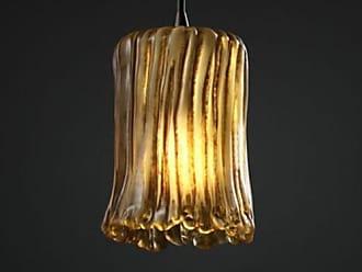 Justice Design GLA-8815 - Pendants 1 Light Mini Pendant - Cylinder with Rippled Rim Shade - Dark Bronze with Amber Glass