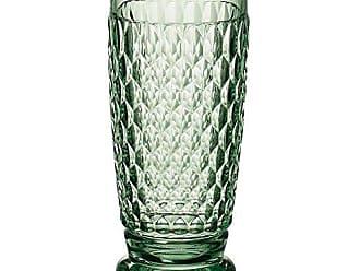 Villeroy & Boch Boston Green Crystal Highball Glasses, Set of 4