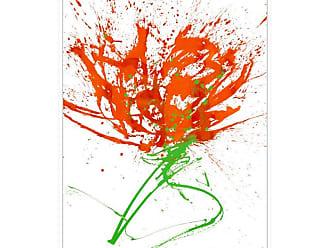 Ptm Images Gestural Florals 13 Framed Canvas Wall Art - 9-110630